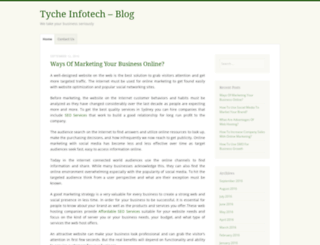 tycheinfotech.wordpress.com screenshot
