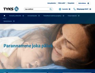 tyks.fi screenshot