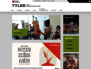 tyler.temple.edu screenshot