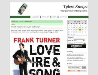 tylers-kneipe.de screenshot
