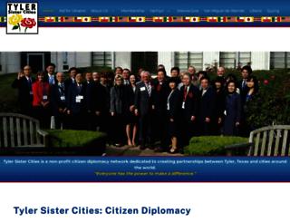 tylersistercities.org screenshot