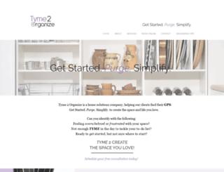 tyme2organize.com screenshot