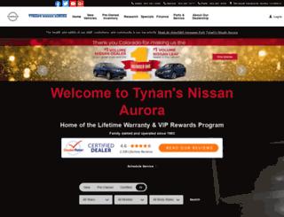 tynansnissanaurora.com screenshot