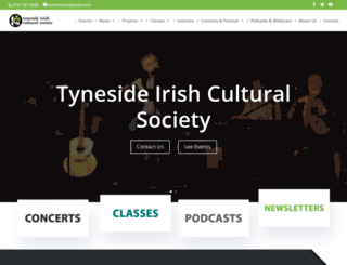 tynesideirish.com screenshot