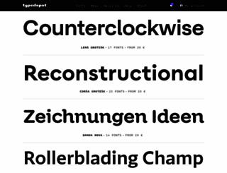 typedepot.com screenshot