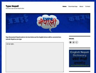 typenepali.com screenshot