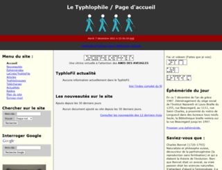 typhlophile.com screenshot