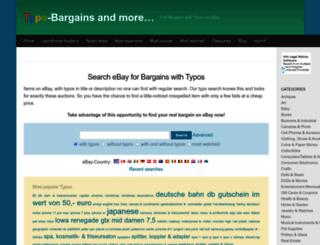 typo-bargains.com screenshot