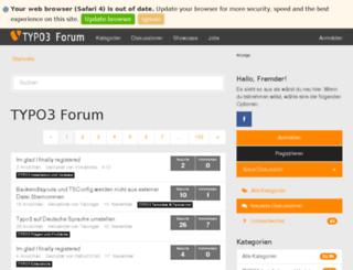typo3forum.net screenshot