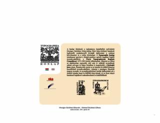typographia.oszk.hu screenshot