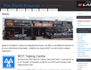 tyrecentrechingford.co.uk screenshot