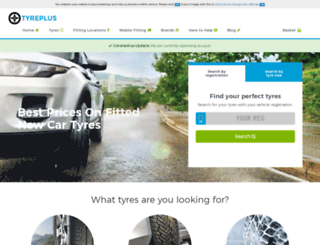 tyreplus.co.uk screenshot