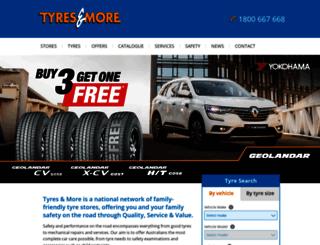 tyresandmore.com.au screenshot