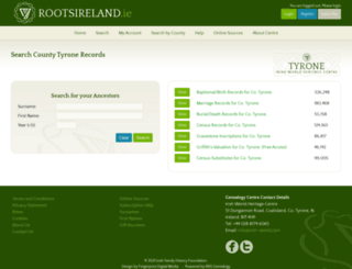 tyrone.rootsireland.ie screenshot
