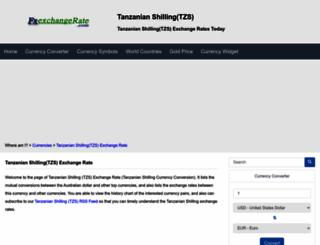 tzs.fxexchangerate.com screenshot