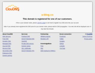 u-blog.co screenshot