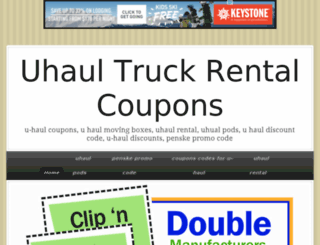 u-haulcoupons.jigsy.com screenshot