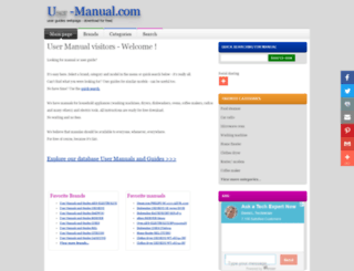 u-manual.com screenshot