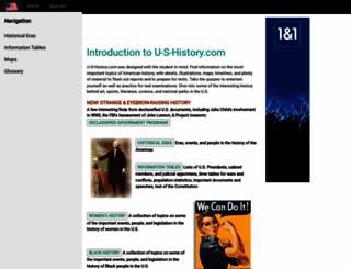 u-s-history.com screenshot