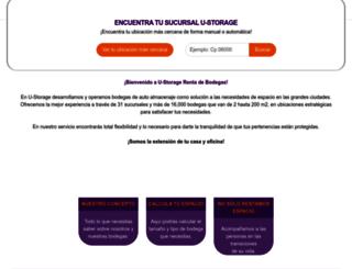 u-storage.com.mx screenshot