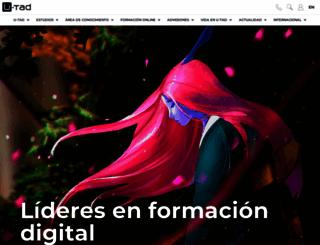 u-tad.com screenshot