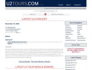 u2tours.com screenshot