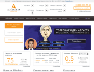 ua.aforextrading.com screenshot
