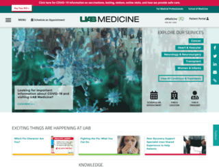uabhealth.org screenshot