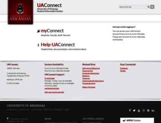 uaconnect.uark.edu screenshot