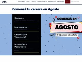 uade.edu.ar screenshot