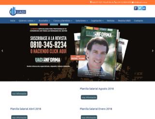 uadi.com.ar screenshot