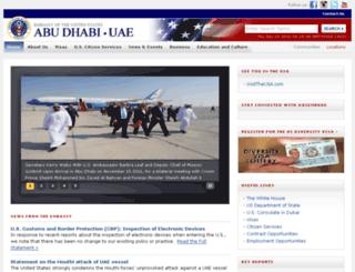 uae.usembassy.gov screenshot