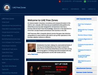 uaefreezones.com screenshot