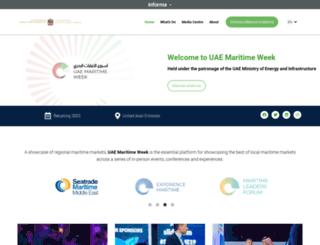 uaemaritimeweek.com screenshot