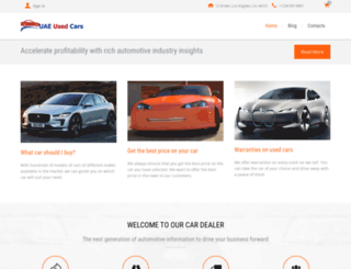 uaeusedcars.biz screenshot