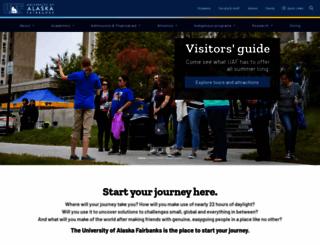 uaf.edu screenshot
