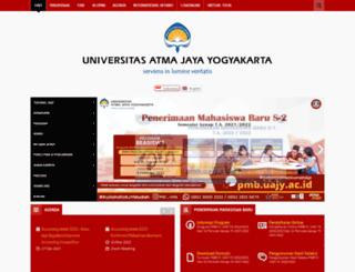 uajy.ac.id screenshot