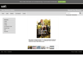 ualresearchonline.arts.ac.uk screenshot