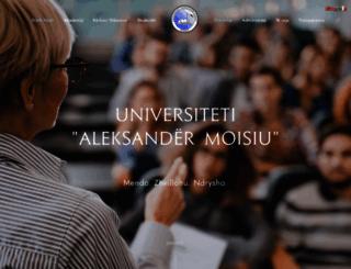 uamd.edu.al screenshot