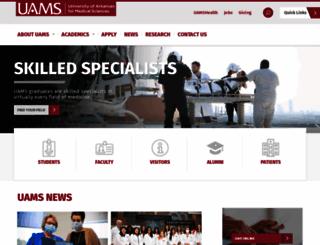uams.edu screenshot