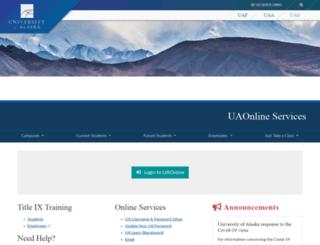 uaonline.alaska.edu screenshot
