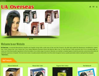 uaoverseas.com screenshot