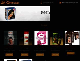uaoverseas.in screenshot