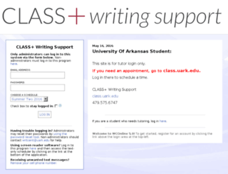 uark.mywconline.com screenshot