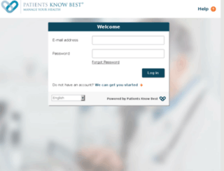 uat.patientsknowbest.com screenshot