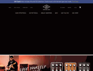 uaudio.com screenshot