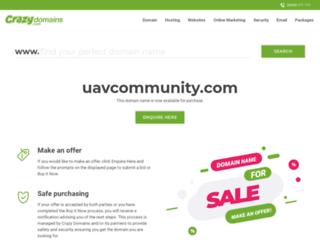 uavcommunity.com screenshot