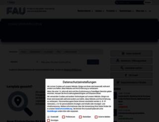 ub.fau.de screenshot