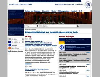 ub.hu-berlin.de screenshot