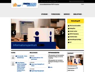 ub.rwth-aachen.de screenshot